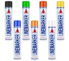 6 Pack Line Marking Paint Linemarker Aerosol Spray Car Park Road Field Warehouse