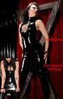 Cool Lady Sexy Faux Leather Catwoman Rompers Gothic Catsuit Black Clubwear