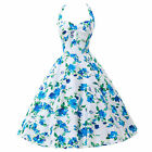 Grace Karin Pin Up Swing 40s 50s Retro Polka Dot Floral Vintage EVENING Dress