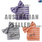 EBC1A28 Striped Discount For Business- Casual Bow Tie Cuff Hanky Set Epoint