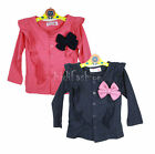 Girls Cardigan Sweater Thin Long sleeve TOP Big Bow Age 2-7 Years