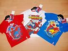NEW BOYS SPIDERMAN SHORT SLEEVE T SHIRT RED WHITE BLUE AGES 2 3 4 5 6 7 8