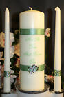 IVORY Two Become One Wedding Unity Candle Set Plus Tapers