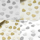 LUXURY WEDDING TABLE CONFETTI -JUST MARRIED HEARTS- Sprinkles/Scatter/Decoration