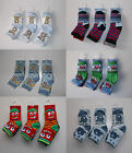 3 pairs Baby boys socks 0 6 12 24 months shoe size 0-0 0-2.5 3-5.5 bears cars
