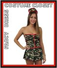 Army Nurse Military Uniform Camo Hero Fancy dress Costume Medical War Halloween
