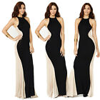2014 New Women Sexy Summer Bodycon Long Splicing Beach Cocktail Party Slim Dress