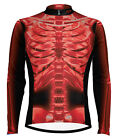 Primal Wear X-Ray Red Skeleton Cycling Jersey Long Sleeve Men's bicycle xray