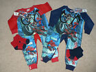 BOYS MARVEL SPIDERMAN RED OR BLUE PYJAMA SLEEPSUIT ONESIE AGE UP TO 2 6