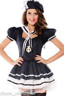 Sexy Sailor Navy Girl Uniform Defence Fantasy Dress Halloween Costume 8-10 14 16