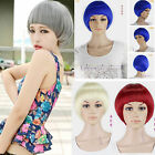 fashion bobo short straight hair full wigs girl 6colors cosplay rose weave wigs