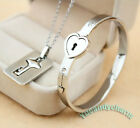 3pc SET Hong Kong TVB Triumph in the Skies 2 Holiday Heart Lock Bangle with Key