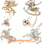 Lady Cute Horse Long Chain Sweater Necklace / Charm Pendant For Necklace