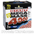 Weider Giant Mega Mass 4000 (7kg/15.4lb) Protein/Gainer *FAST FREE DELIVERY*