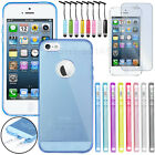 Ultra Thin Transparent Crystal Clear Gel Back Case Cover Skin For iPhone 5 5S
