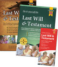 LAST WILL AND TESTAMENT DIY KITS AND FORM PACKS LATEST MULTIPLE DEALS BRAND NEW.