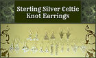 ~STERLING SILVER CELTIC KNOT EARRINGS~Symbol of Hope Wealth Luck Love~.925