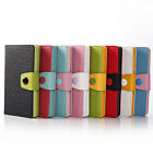 Litchi Leather Flip Card Slot Stand Pouch Case Cover For iPhone 4/4S 5/5S 5C