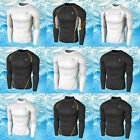 F [Tesla] Mens Compression COOLGEAR Sports Base Layer Long Sleeve Collection