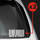 Euro Car Made France Barcode Drift Pedal Stance Static Sticker Autocollant EB119