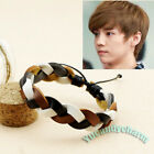 Korean Band EXO LUHAN handmade braided leather Bracelet Kai Kris Lu Han Tao SOHU