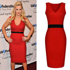 Women Lady Sleeveless Career Formal Party Evening Clubwear Bodycon Pencil Dress