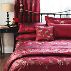 EMBROIDERED FLORAL DUVET SET OR CURTAINS LUELLA RED CATHERINE LANSFIELD NEW
