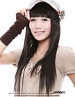 65cm Heat resistant Black /Brown long straight fashion cosplay party wig