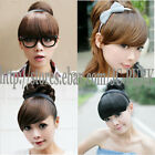 Girl's One Piece Hair Extensions Bangs/Fringes With Hair Bands/Headband W/Track