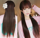 """23""""/60cm Straight One Piece Hair Extensions 3/4 Full Head Clip In W/Tracking"""