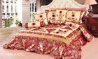 Tache New 4-6 Pieces Pink Summer Floral Red Spring Bloom Comforter Quilt Set