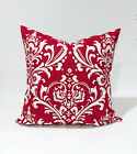 Lipstick Red and White Ozborne , damask Throw Pillow Cover Pillow Case