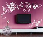 ? Wall Tattoo 2 Parted Flower Cluster W844 XXL ? Flower Stick On Wall Sticker