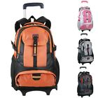 New Fashion WOMEN Men's Rolling Wheeled Backpacks Carry-ons Trolley School Bag