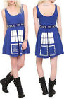 DOCTOR Dr.  WHO cosplay TARDIS Punk COSTUME baby doll KNIT flare MINI blue DRESS