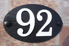 House Number Signs Slate Aluminium Protruding Numbers 1 to 50 Spanish Slate oval