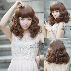 new fashion curly wave short hair cosplay party full long wigs Lace wig cap