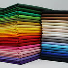 100 cotton fabric sheeting plain solid colours per metre