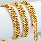 10mm 18-36 inch MEN Chain Double Curb Rombo Necklace Gold Filled CUSTOMIZE SIZE