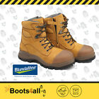 New Blundstone Mens Work Boots Shoes Safety Steel Toe Zip Lace Up 992 AU Size
