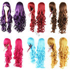 """32"""" 80cm Heat Resistant Long Hair Spiral Curly Cosplay Anime Full Wig 12 Colors"""