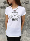 * This Girl Is The Best Mum T-shirt Top Shirt Funny Tumblr Gift Lady Mom Mother*