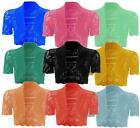 New Ladies Plus Size Knnited Crop Cardigans Womens Outerwear Tops 8-20