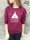 MY TENT OR YOURS Jumper Top Sweater Funny Camping Music Festival Reading Glasto