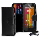 NEW PU LEATHER WALLET CASE COVER FOR Various Motorola Phone Moto G / Moto X