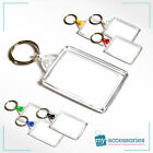 Blank Keyring w/ Linking Ring Personalised Insert - Plastic 50mm x 35mm (C102)
