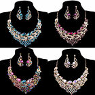 Luxury Wedding Bridal Party Swarovski Crystal Earring Necklace Jewelry Sets