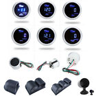 "2""/52mm Digital LED Boost Water Oil Temp/Press Volt Tachometer Meter Guage Cup"
