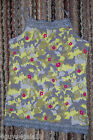 Girls Cami Tank Top GRAY YELLOW CAMO ABSTRACT S 6-6X M 7-8 L 10-12 XL 14-16 Lace