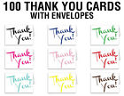 boy baby shower thank you cards - 100 THANK YOU CARDS with ENVELOPES - wedding party gift boy girls baby shower